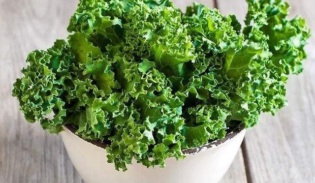 Kıvırcık karalahana  Kıvırcık karalahananın bir fincanı 33 kaloridir. Buna karşın her porsiyonunda 3 gram protein ve 2,5 gram lif bulunur. Üstelik omega-3 yağ asidi bulunduran nadir sebzelerdendir. Karalahana ayrıca vitamin ve folik asit açısından da zengindir.