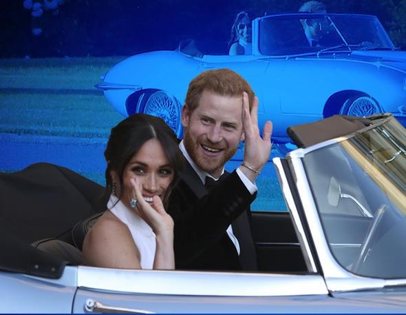 Prens Harry ve eşi Meghan Markle, düğünden sonra dünyada sayılı olduğu belirtilen lüks bir aracın içinde böyle görüntülendi.