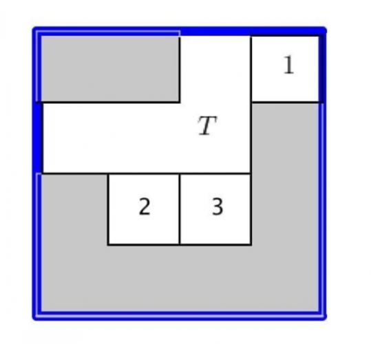 Bu görselde gördüğünüz 1,2,3 ve T birbirinden farklı yerlerde. Gri bölümler de boşluk. Sizce, T bölümü, 5 hamle yapmak kaydıyla nasıl sağ alt köşeye gelir?