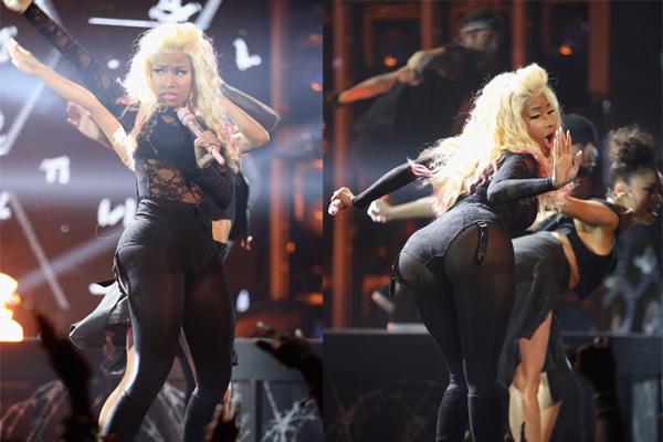 Nicki Minaj, Los Angeles'ta düzenlenen 2012 BET Ödülleri Töreni'ne katıldı. Başarılı şarkıcı, tören boyunca 3 farklı kıyafetle görüntülendi. Minaj, 3 kıyafetin üçünde de, kendi tarzını konuşturmuştu. Törenin başlarında 'Beez In The Trap' adlı şarkısını seslendiren Nicki, törenden