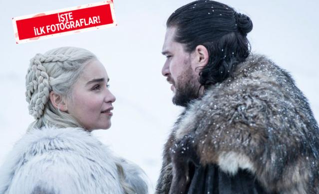Efsane dizi Game of Thrones'un final sezonu olan 8. sezonundan ilk kareler gün yüzüne çıktı. Dizinin final sezonu 14 Nisan tarihinde başlayacak.