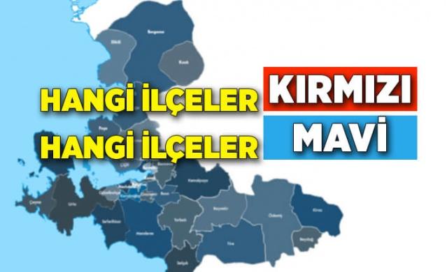 """İzmir'de """"Hayat Eve Sığar"""" uygulamasındaki risk haritası geçtiğimiz haftalarda mavi ve turuncuya dönmüştü. Ancak güncellenen yeni haritaya göre birçok ilçenin kırmızıya döndüğünü görmekteyiz."""
