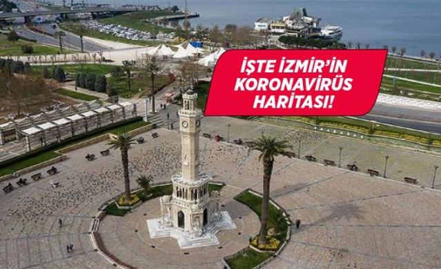 Son günlerde İzmir'deki artış dikkat çekerken kentte yaşayan vatandaşlar İzmir koronavirüs risk haritasındaki son durumu merak ediyorlar. İşte ilçe ilçe İzmir'in koronavirüs yoğunluk haritası.