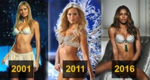 Victoria's Secret Fantezi Sütyeni'nin yıllar içindeki değişimi
