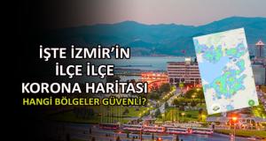 İzmir'in ilçe ilçe korona haritası