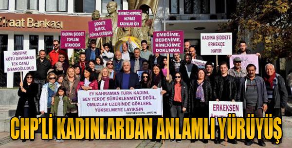 CHP'li Kadınlar, Kadına Şiddete Karşı Yürüdü