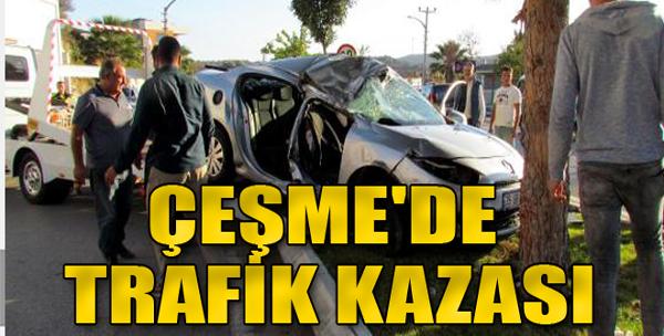 Çeşme'de Trafik Kazası
