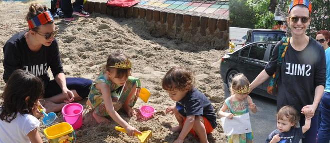 Çocuklarıyla Park Keyfi