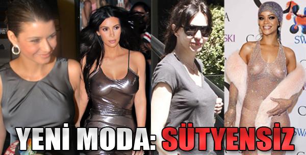 Yeni Moda: Sütyensiz
