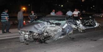 100 Km Hızla Kaza Yaptı Sağ Kurtuldu