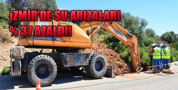 İzmir'de Su Arızaları Yüzde 37 Azaldı!