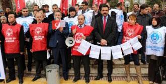 Burdur'daki Memurlar da Bordro Yaktı