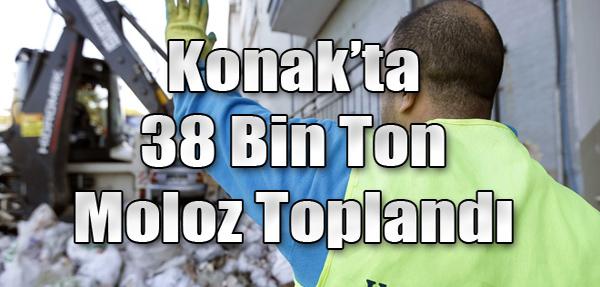 Konak'ta 38 Bin Ton Moloz Toplandı