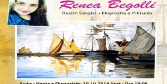 Kosavalı Ressam Begolli İlk Sergisini Açtı