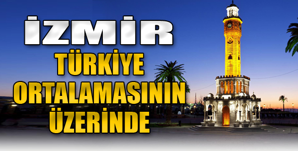 İzmir Türkiye Ortalamasının Üzerinde