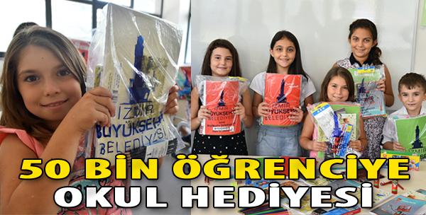 İzmir Büyükşehir'den 50 Bin Öğrenciye Okul Hediyesi