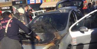Para Çekerken Otomobili Yandı