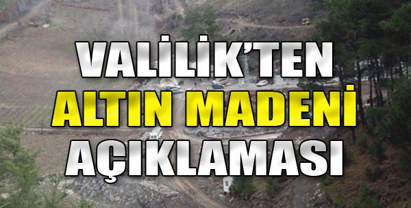 İzmir Valiliği'nden Altın Madeni Açıklaması