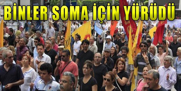 Binler Soma İçin Yürüdü