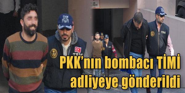 PKK'nın Bombacı TİMİ, Adliyeye Gönderildi