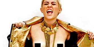 Miley'den Üstsüz Poz!