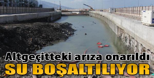 Altgeçitteki Arıza Onarıldı Su Boşaltılıyor