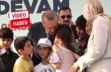 Erdoğan'a sarılınca gözyaşlarına boğuldu