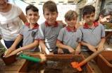 Bucalı çocuklar, tarımı öğreniyor