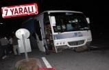 İYİ Parti seçim midibüsü 2 araçla çarpıştı!