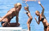Çağla'dan sörf denemesi