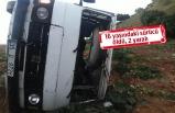 Bayındır'da feci kaza: Minibüs şarampole uçtu