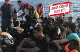 Alaçatı açıklarında 45 mülteci yakalandı