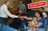Başkan Arslan'dan bayram öncesi hastalara ziyaret