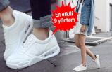 Beyaz spor ayakkabılar nasıl temiz tutulur?
