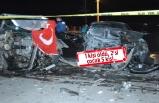İzmir'de asker eğlencesi dönüşü feci kaza!