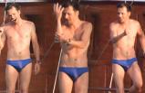 Teknede dans! Mehmet Günsür ve ailesi tatilde