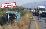 Feci kaza: Halk otobüsü ile otomobil çarpıştı!