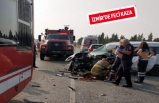 Belediye otobüsüne çarptı, sürücü kurtarılamadı