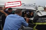 Feci kaza: Yolcu otobüsüne arkadan çarptı!