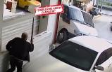 İzmir'de kayınpederin  iş yeri baskını güvenlik kamerasında