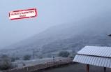 İzmir'e 'kış' geldi: Yılın ilk karı!