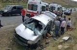 Antalya'da minibüs devrildi!