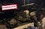 İzmir'de feci kaza: Beton bariyerlere çarptı