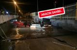 İzmir'de araç alt geçitte mahsur kaldı