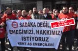 Belediye işçilerinden maaş eylemi