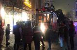 İstanbul İstiklal Caddesi'nde nostaljik tramvay kaza yaptı!