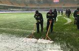 İstanbul'daki kar yağışı sebebiyle maç ertelendi