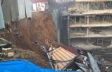 İstinye'de inşaatın istinat duvarı çöktü!