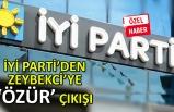İYİ Parti İzmir'den Zeybekci'ye 'özür' çıkışı