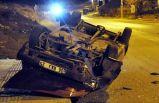 Ankara'da polisten kaçan şüpheliler kaza yaptı!